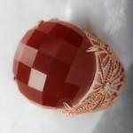 טבעת אגאת ויהלומים 2500 שח