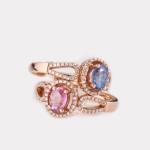 טבעת ספיר בשילוב יהלומים 2900 שח