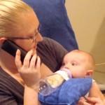 סינר כרית לבקבוק לתינוק
