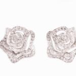 עגילי פרח שיבוץ יהלומים 4500 שח